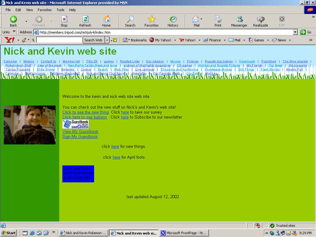 Nick and Kevin web site